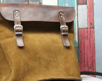 Leather Backpack, Rucksack, Handmade Bag, Laptop Bag, School Bag, Bike Bag/ Bicycle Bag made by Claudio Nosari LeatherCraft