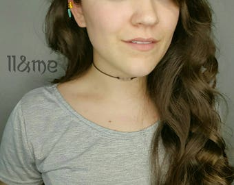Set of 4 gold and turquoise braid rings, ear cuff, bohemian, gypsy, boho, Coachella,