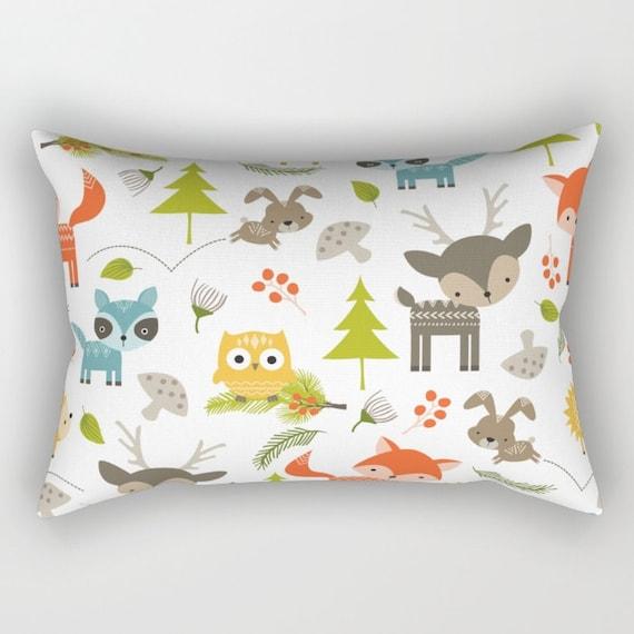 Animal Pillows For Nursery : Nursery Pillow Woodland Animals Throw Pillow Animal Pillow