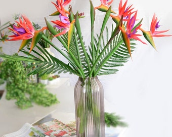 Bird Of Paradise Real Touch Flowers 5 Stems Bird Of Paradise Wedding Flowers Centerpieces Home Decor Bridal Bouquet