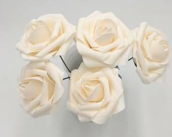 Blush Wedding Flowers Roses 100 Stems Artificial Flowers For Wedding Centerpieces Floral Wedding Decoration Bridal Bouquet Flowers LNPE017