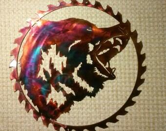 Wolf Trio Indoor Or Outdoor Plasma Cut Wildlife Metal Art