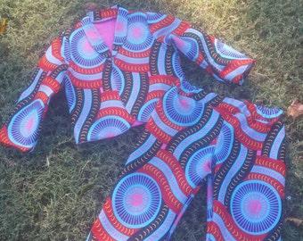 African print Blazer Set