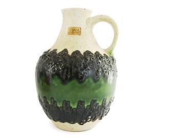 Vintage fat lava vase Bay Keramik 71 25, West German Pottery