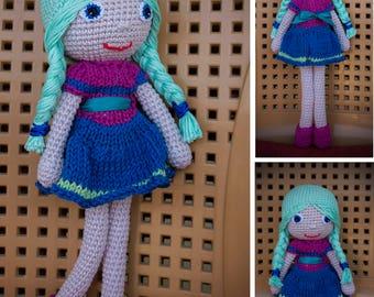 cute crochet amigurumi doll toy