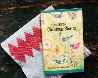 Christmas Book, Read Aloud, Treasury for Children, Christmas, Stories, MCM Cover, Mod Birds, Ornaments, Great Condition, Gift Display