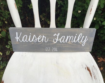 18 x 5.5 Family Sign