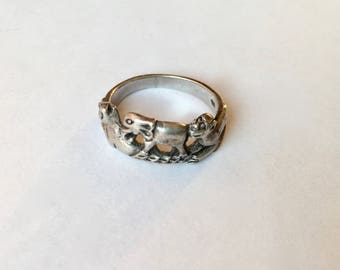vintage sterling animal ring size 5.75