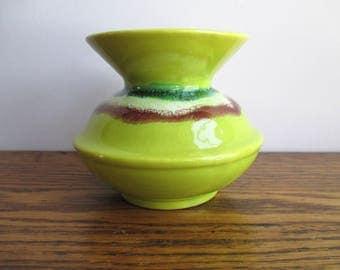 Vintage Yellow California Pottery Vase