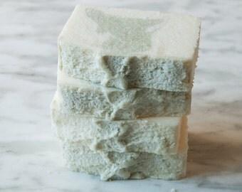 Eucalyptus Mint Salt Bar Hand & Body Soap, Spa Bar, Cold Process