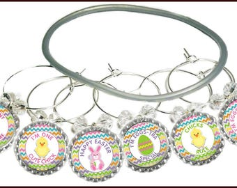 Easter Wine Glass Charms (8 Pack)