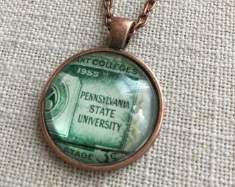 Stamp Necklace - Pennsylvania State University, Penn State