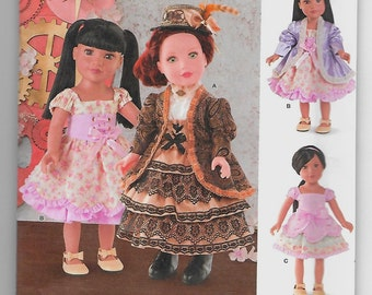 8112 Simplicity 18 Inch Doll Clothes Sewing Pattern Steampunk