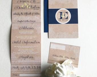tear off rsvp | etsy, Wedding invitations
