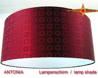 Bordo Lamp shade silk ANTONIA Ø50 cm lampshade silk jacquard in dark red lamp