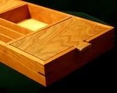 CHERRY VALET BOX - Wood Valet Box  -  Gift for Men