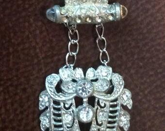 Vintage Double Shoe Clip Necklace