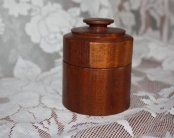 Round Wooden Trinket Box- Vintage