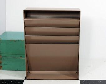 vintage industrial mail or file organizer vertical desk or wall file hunt lit