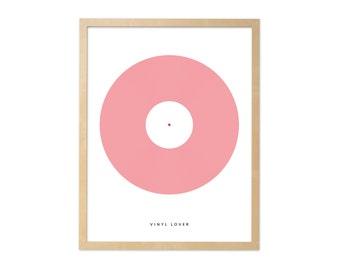 Fine art print · Vinyl lover · DIN A4