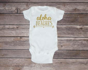 Aloha Beaches Baby Short Sleeve Bodysuit