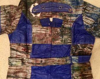 Navy Tie-Dye Shirt Dress
