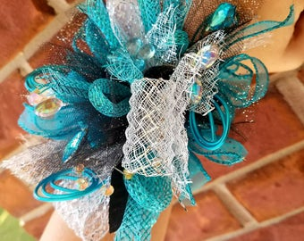 Turquoise Wrist corsage/prom/homecoming