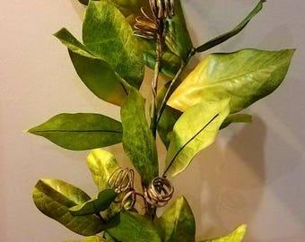Artificial Magnolia leaf stem 33 inches