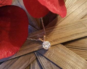 14K Gold 0.20 Carat Diamond Necklace  (St  - 1905)