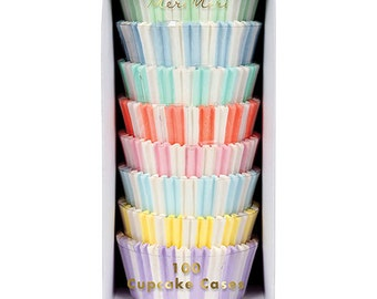 Assorted Pastel Cupcake Liners | Meri Meri | Baby Shower Cupcake Liners | First Birthday Party | Ice Cream Party | Pastel Party Supplies