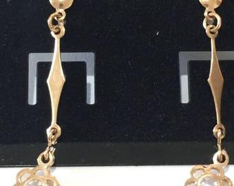 14k goldfilled long chandelier earrings goldfilled