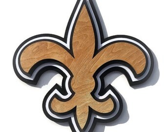 Extra Large 2.5D Black and Gold Fleur De Lis Wall Decor