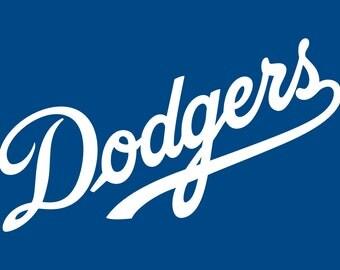 Dodgers Decals Etsy