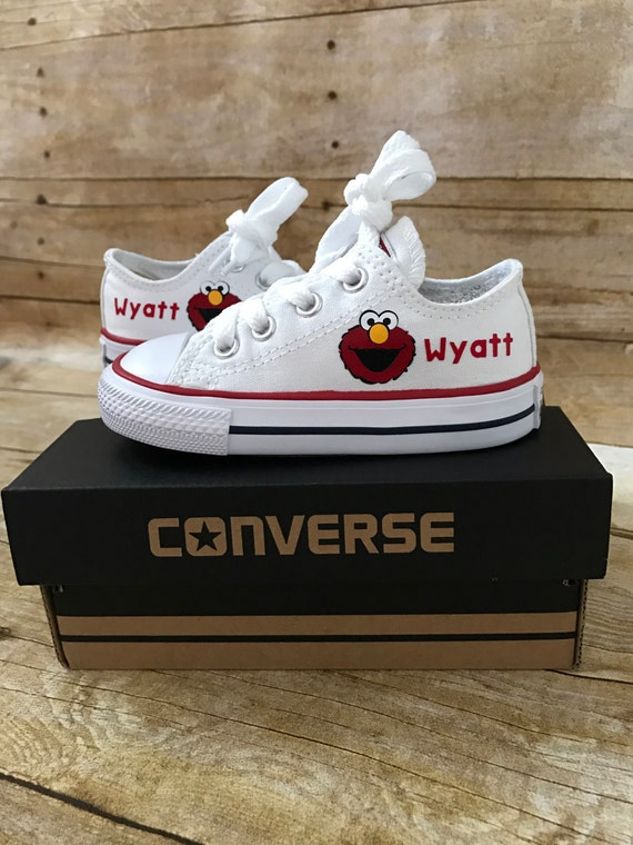 Elmo Shoes Personalized Chuck Taylors Customized Converse