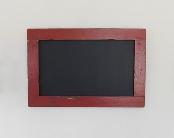 Large Chalkboard / Chalk board Framed in Vintage Look Distressed Wood Shown in Barn Red 24 x 36 *MORE COLORS AVAILABLE*
