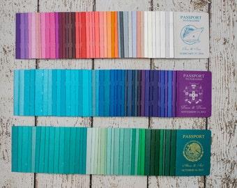 Passport Invitation for your destination wedding - Custom handmade invites from Canada by  ---- www.empireinvites.ca ---