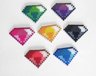 Chaos Emeralds Sprite Set Sonic the Hedgehog Perler Beads