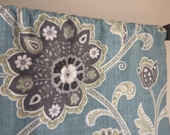 Jacobean Valance, Floral Jacobean Valance, Window Treatment, Valances