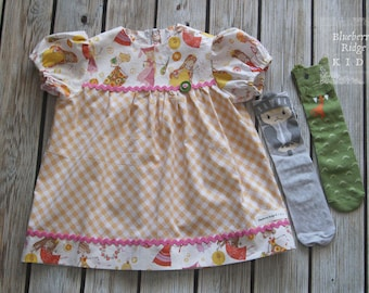 Vintage Style Fair Maiden Swing Dress - Size 2T - Ready To Ship