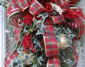 Christmas Swag, Holiday Swag, Door Swag, Christmas Decorations