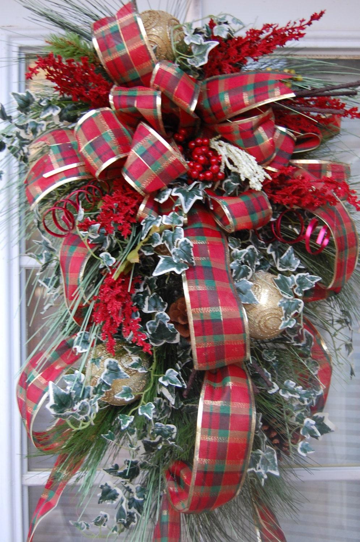 Christmas Swag Holiday Swag Door Swag Christmas Decorations