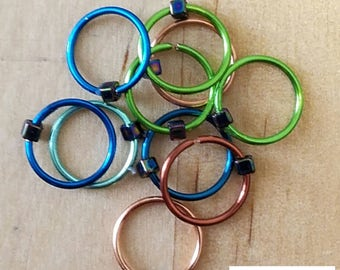 Ring Knitting Stitch Markers knitters gifts knit markers