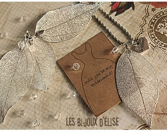 Sale - Filigree Leaf Bridesmaid Necklace with Stainless Steel Chain Large Leaf Pendant Necklace