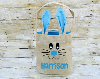 Easter Bunny Bag, Easter Basket, Personalized Easter Basket, Easter Egg Hunt Bag, Easter Bunny,  Easter Bucket, Easter Outfit, Personalized