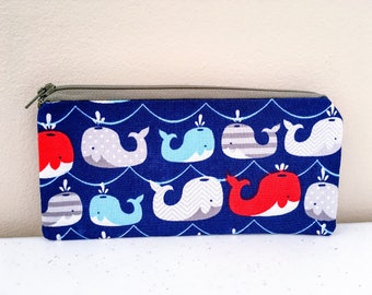 Whale Pencil Case Pouch