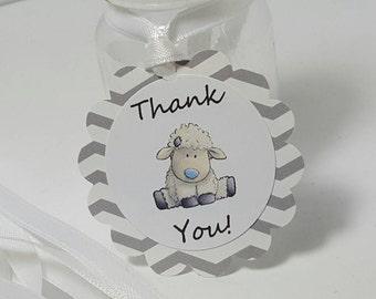 Lamb baby shower - lamb favors - lamb gift tags - lamb decorations - lamb party - little lamb baby shower - little lamb tags
