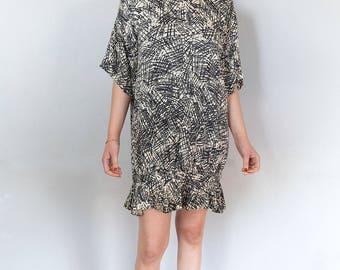 Incredible Nicole Miller Drop Waist Dress with Ruffle