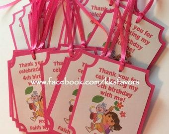 Dora Explorer Favor Tags / Swiper/ Boots / Backpack Favor Tags - Set of 12