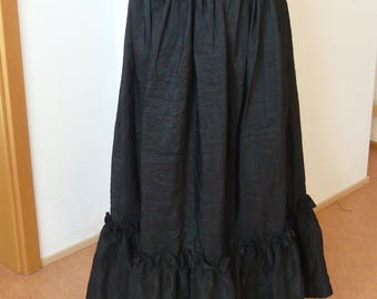 Steampunk, Skirt, Gothic, black, Volant, long