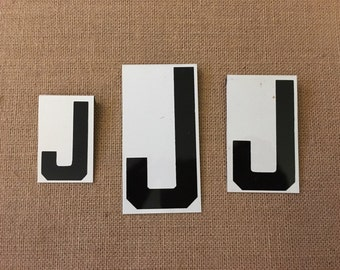 Vintage Metal Unitype Letter J